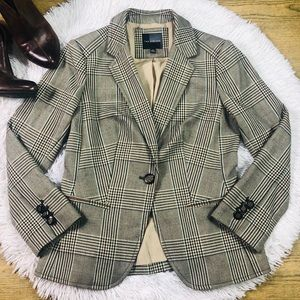 The Limited Brown Plaid Blazer Size XS